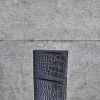 Men's Wallet Twary Brown Crocodile Embossed Leather