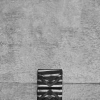 Box Clutch Mini Black Silver Calf Skin