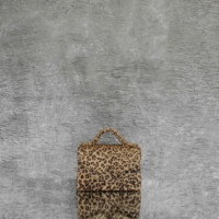 TKO Mini Tan Brown Leopard Print Calf Hide