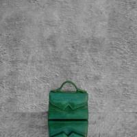 TKO Mini Glossy Green Reptile Embossed Leather