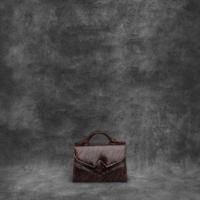 TKO Mini Shirred Brown Snake Embossed Leather