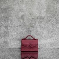 TKO Mini Wine Red Crocodile Embossed Leather