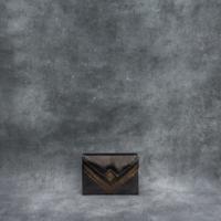 Box Clutch Mini Metallic Bronze Calf Skin
