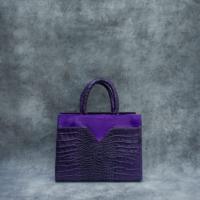 SST Madam Purple Crocodile Embossed leather Calf Hide Insert
