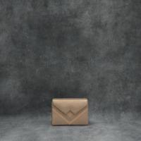 Box Clutch Mini Metallic Peach Calf Skin