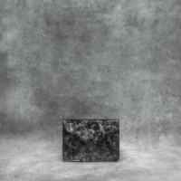 Waist Bag Distressed Metallic Gunmetal Calf Skin