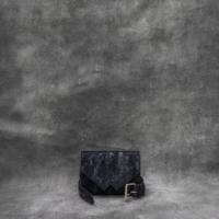 Waist Bag Distressed Metallic Midnight Blue Calf Skin