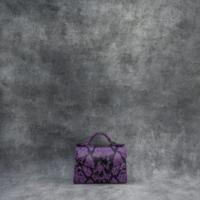 TKO Mini Purple Snake Embossed Leather
