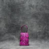 Alpha Mini Pink Snake Embossed Leather