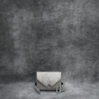 Waist Belt Bag Metallic Grey Goat Skin