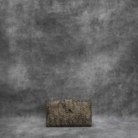 Travel Wallet Metallic Black Gold Calf Skin
