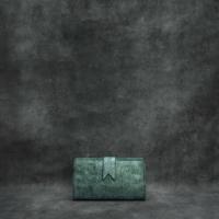 Travel Wallet Metallic Teal Green Calf Skin