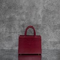 SST Madam  Red Crocodile Embossed Leather