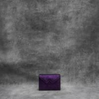 Box Clutch Mini Metallic Dark Purple Calf Skin
